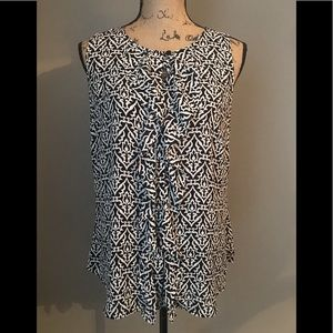 Loft Black and white blouse